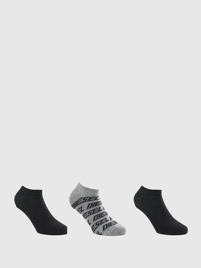 Diesel - SKM-GOST-THREEPACK, Grey/Black - Socks - Image 1