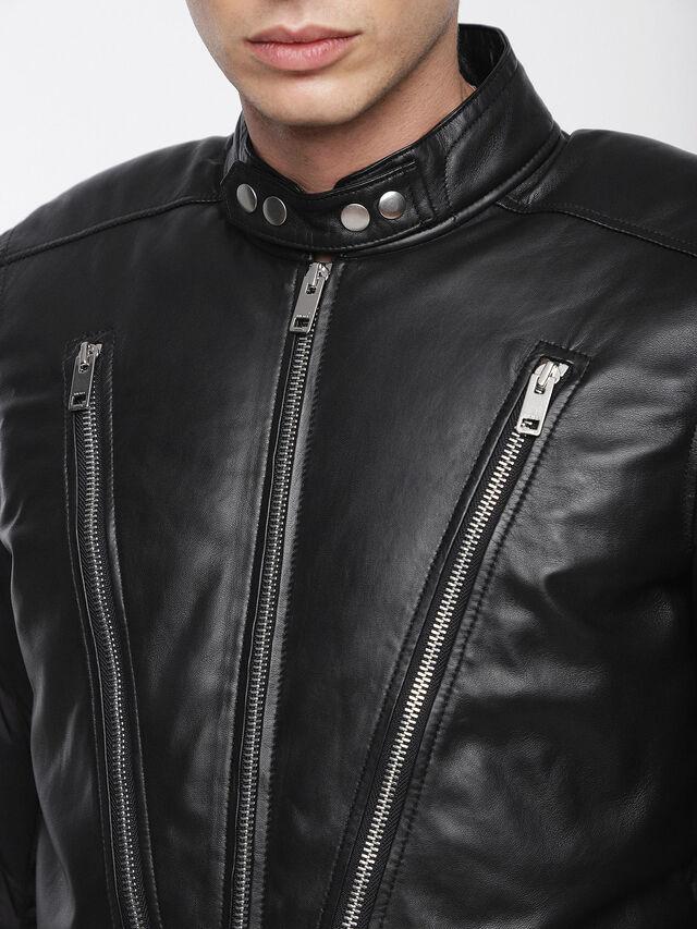 Diesel - L-WINTER, Black - Leather jackets - Image 4