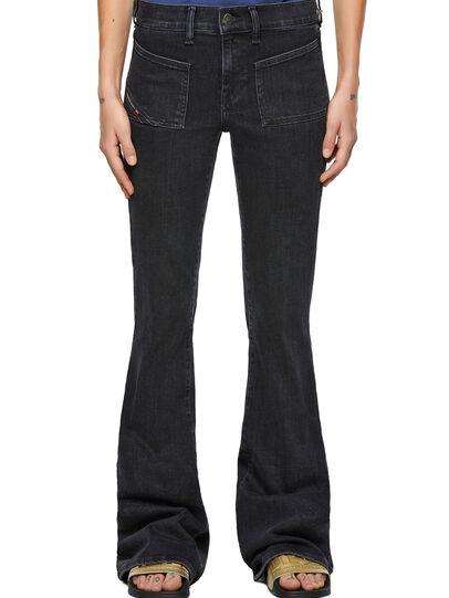 Diesel - D-Ebbey 09A66, Black/Dark grey - Jeans - Image 1
