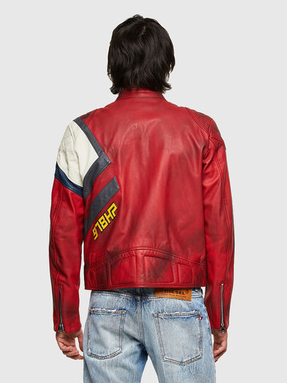 Diesel - L-POWER, White/Red - Leather jackets - Image 2