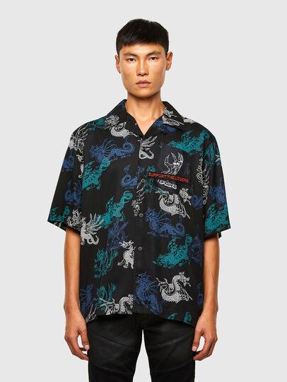 Diesel - S-BEACH, Black - Shirts - Image 1