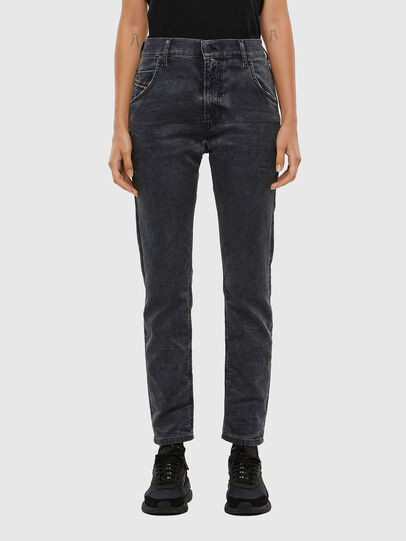 Diesel - KRAILEY JoggJeans® 069QB, Black/Dark grey - Jeans - Image 1