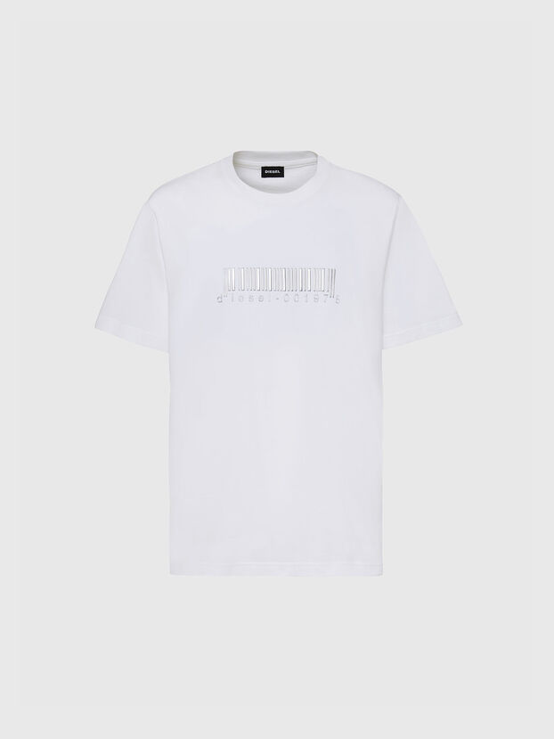 T-JUST-SLITS-X85, White - T-Shirts