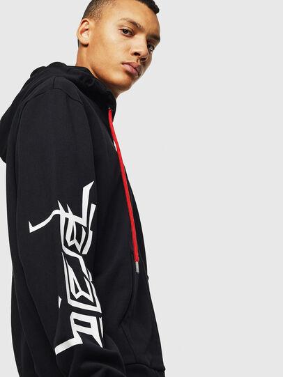 Diesel - S-GIRK-HOOD-ZIP-1, Black - Sweaters - Image 6