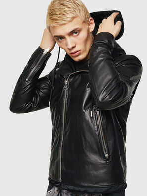 L-SOLOVE, Black - Leather jackets