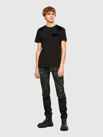 Diesel - T-IEGO-A, Black - T-Shirts - Image 5