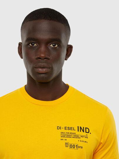 Diesel - T-DIEGOS-N21, Yellow - T-Shirts - Image 3