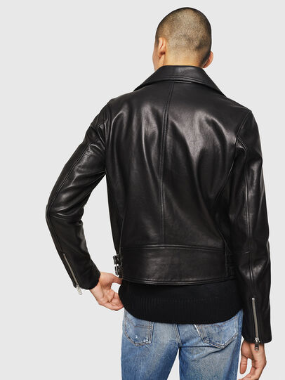 Diesel - L-GOTIV, Black - Leather jackets - Image 2
