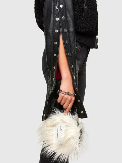 Diesel - L-CELIA-TEDDY, Black - Leather jackets - Image 3
