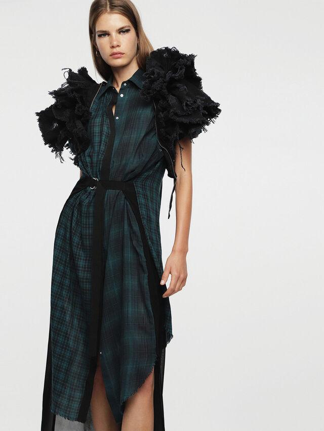 Diesel - D-BAGGY, Green/Black - Dresses - Image 4