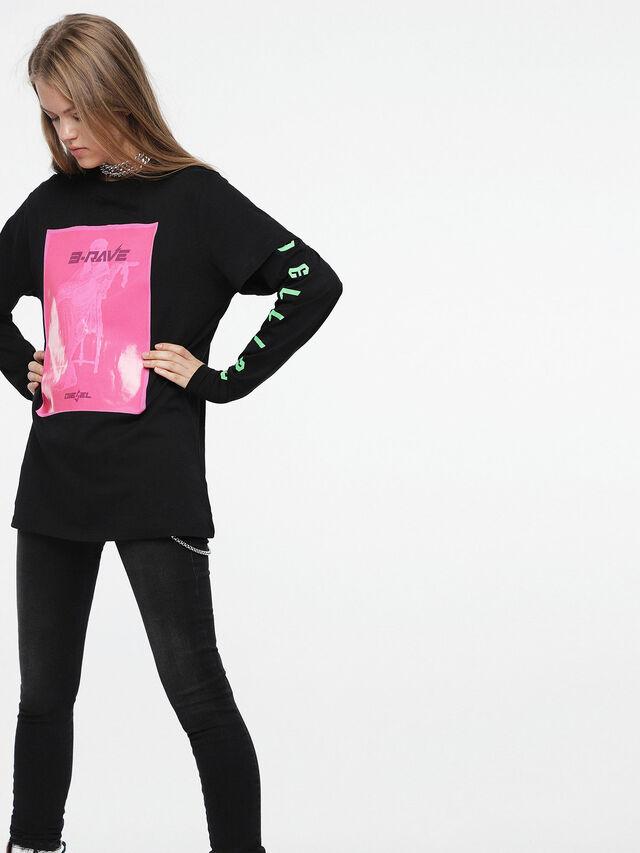 Diesel - T-DARIA-C, Black/Pink - T-Shirts - Image 1