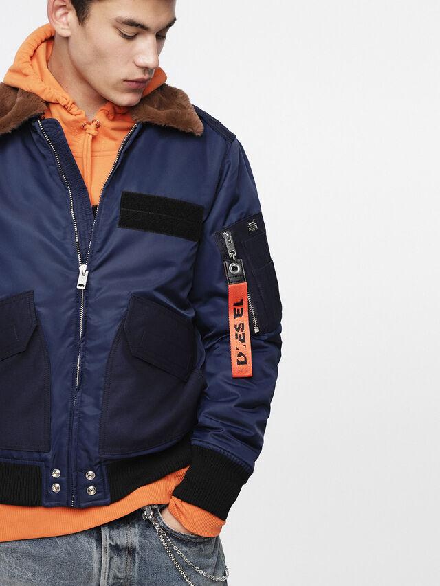 Diesel - W-SLOTKIN, Blue - Winter Jackets - Image 4