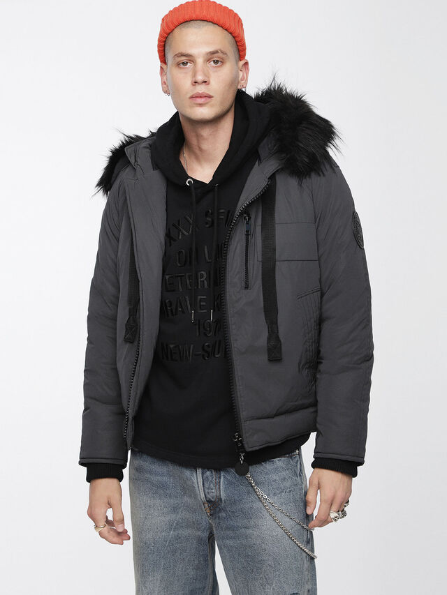 Diesel - W-CODY, Black - Winter Jackets - Image 1