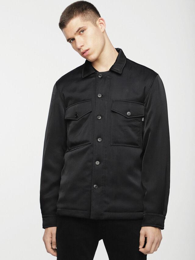 Diesel - S-LATE-PADD, Black - Jackets - Image 1