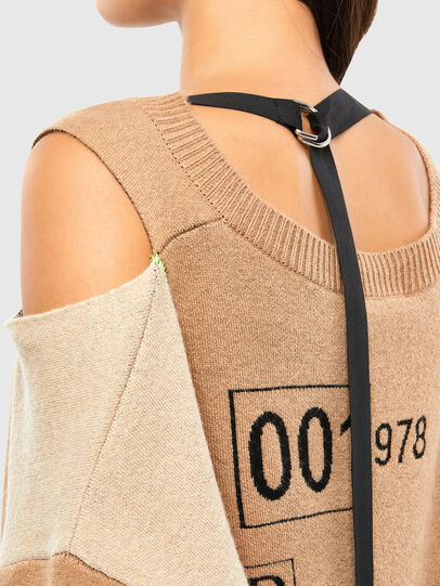 Diesel - M-ANNE, Light Brown - Knitwear - Image 5