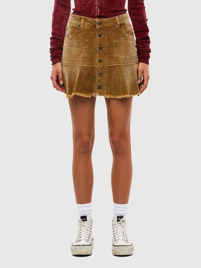 Diesel - O-BETH-C, Light Brown - Skirts - Image 1