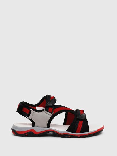 Diesel - SA 07 STRIPE CH, Grey/Red - Footwear - Image 1