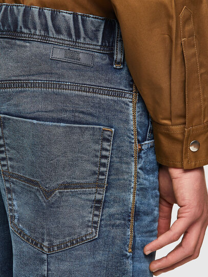 Diesel - D-KROOSHORT JOGGJEANS, Medium blue - Shorts - Image 3