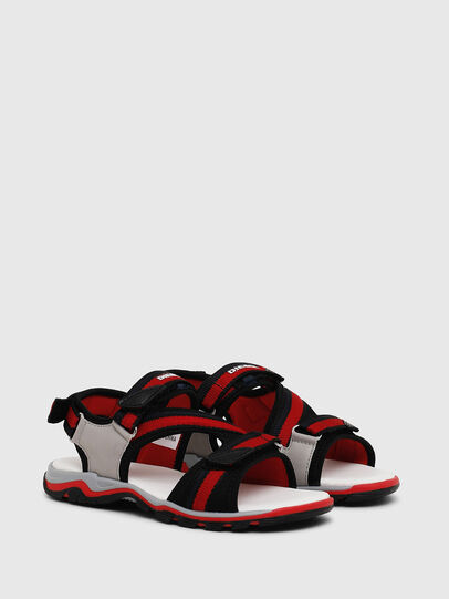 Diesel - SA 07 STRIPE CH, Grey/Red - Footwear - Image 2
