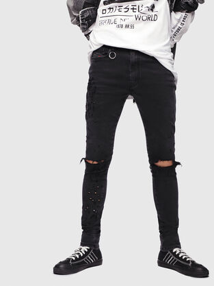 D-Istort 085AW, Black/Dark grey - Jeans