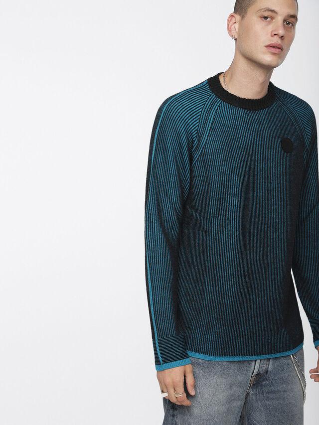 Diesel - K-BLEND, Blue/Black - Knitwear - Image 1
