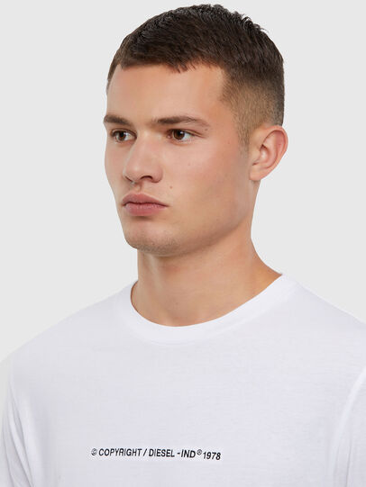 Diesel - T-JUST-LS-X93, White - T-Shirts - Image 3