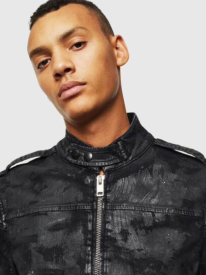Diesel - D-JEI-SP1 JOGGJEANS, Black/Dark grey - Denim Jackets - Image 5