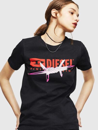 Diesel - T-SILY-ZC, Black - T-Shirts - Image 1