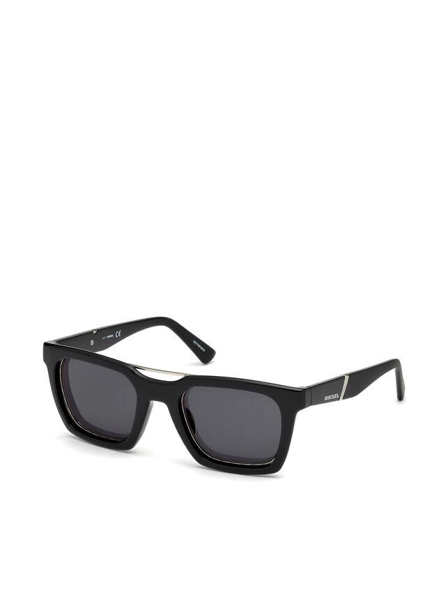 Diesel - DL0250, Bright Black - Sunglasses - Image 4