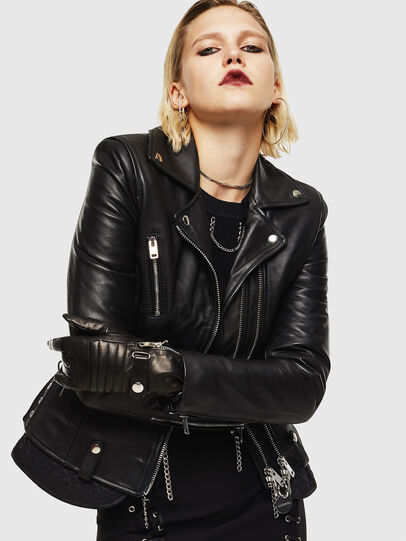 Diesel - L-CARAMA, Black - Leather jackets - Image 5
