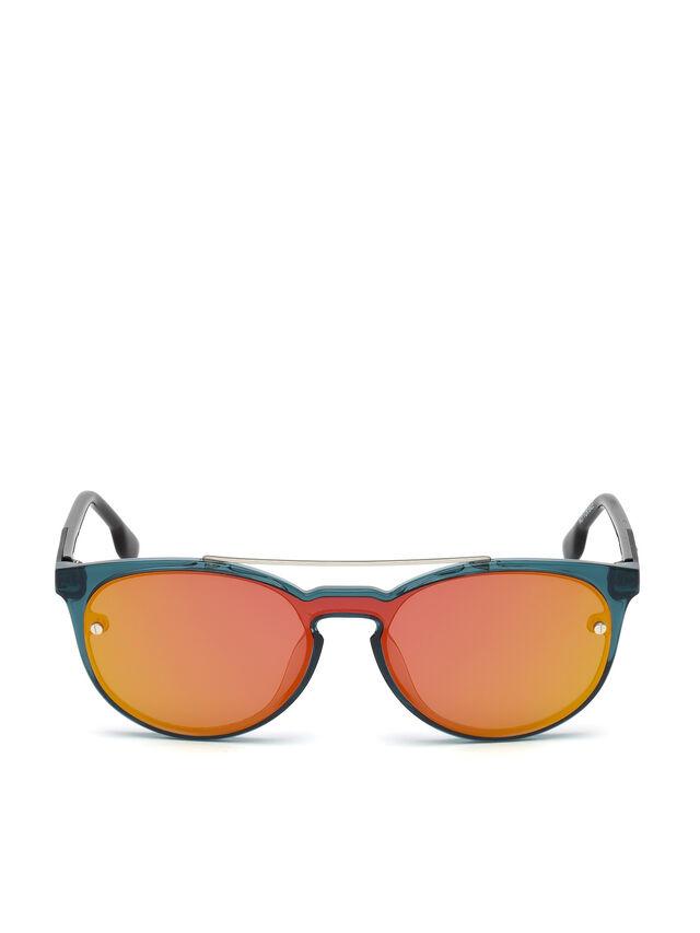 Diesel - DL0216, Blue/Orange - Sunglasses - Image 1