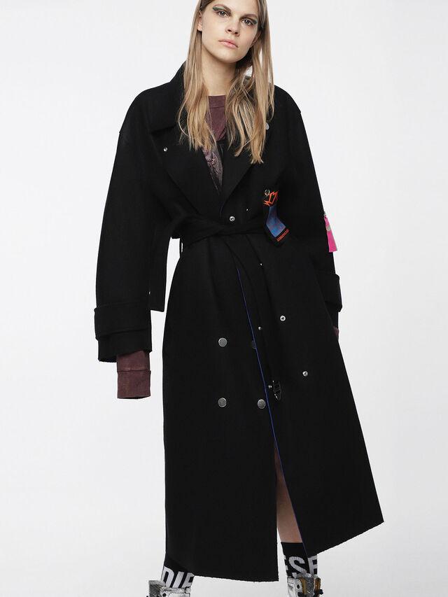 Diesel - W-MYRKE, Black - Winter Jackets - Image 1