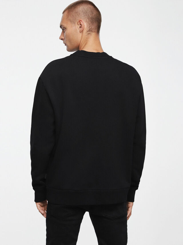 Diesel S-ELLIS-CL, Black - Sweaters - Image 2