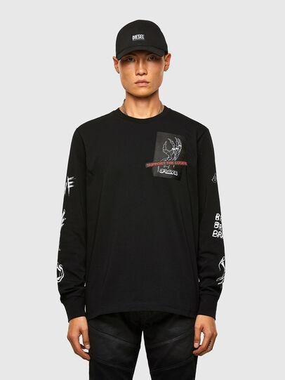 Diesel - T-JUST-LS-A9, Black - T-Shirts - Image 1