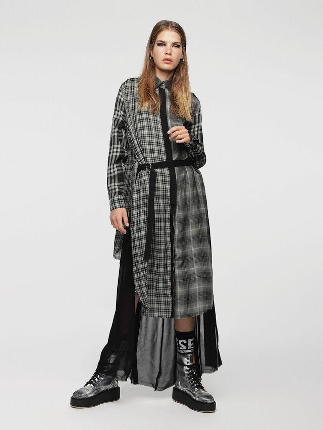 Diesel - D-BAGGY, Gray/Black - Dresses - Image 1