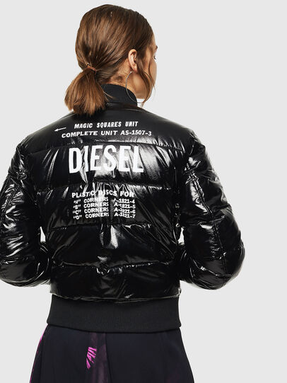 Diesel - W-ONY, Black - Winter Jackets - Image 2