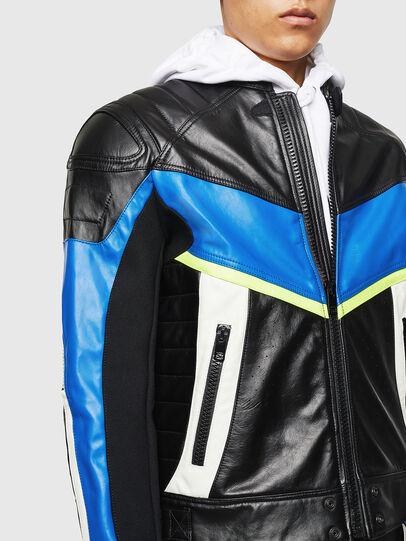 Diesel - ASTARS-LDUE, Black - Leather jackets - Image 3