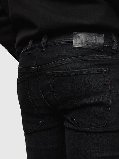 Diesel - Sleenker Zip 0093X, Black/Dark grey - Jeans - Image 6