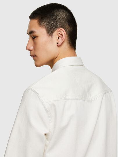 Diesel - D-EAST-P1, White - Denim Shirts - Image 3