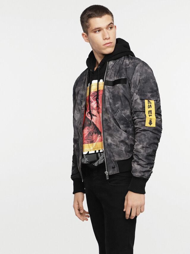 Diesel - W-NOVELS, Black Melange - Jackets - Image 4
