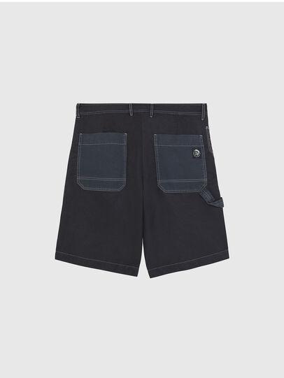 Diesel - P-TRENT-SHORT, Black/Blue - Shorts - Image 2