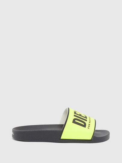 Diesel - SA-VALLA W, Black/Yellow - Slippers - Image 1