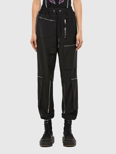 Diesel - P-LEX-A, Black - Pants - Image 1