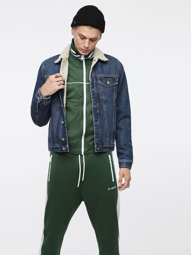 Diesel - D-GIOC-FUR, Blue Jeans - Winter Jackets - Image 4