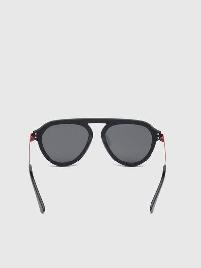 Diesel - DL0277, Black/Red - Sunglasses - Image 4