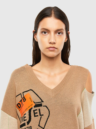 Diesel - M-ANNE, Light Brown - Knitwear - Image 4