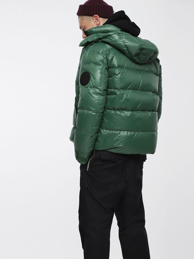 Diesel - W-SMITH-A, Bottle Green - Winter Jackets - Image 2