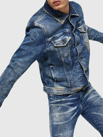 Diesel - NHILL-TW, Medium blue - Denim Jackets - Image 3