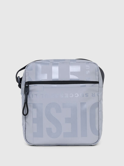 Diesel - X-BOLD DOUBLE CROSS, Grey - Crossbody Bags - Image 1