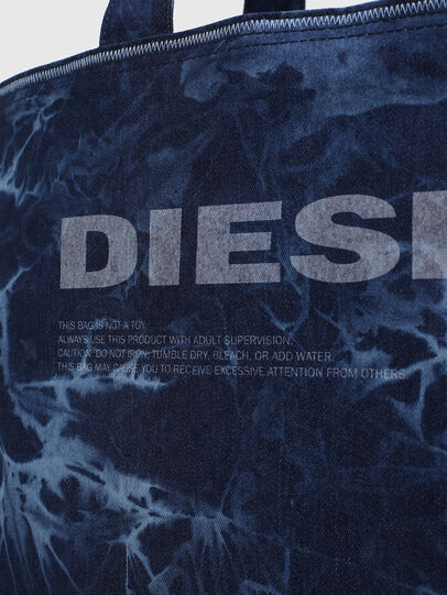 Diesel - D-THISBAG SHOP M, Blue - Shopping and Shoulder Bags - Image 5